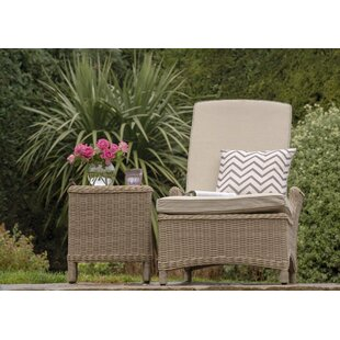 Rysing Reclining Sun Lounger With Cushion And Table Image