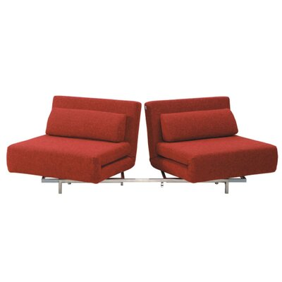 Demelo Convertible Sofa Brayden Studio Upholstery: Red