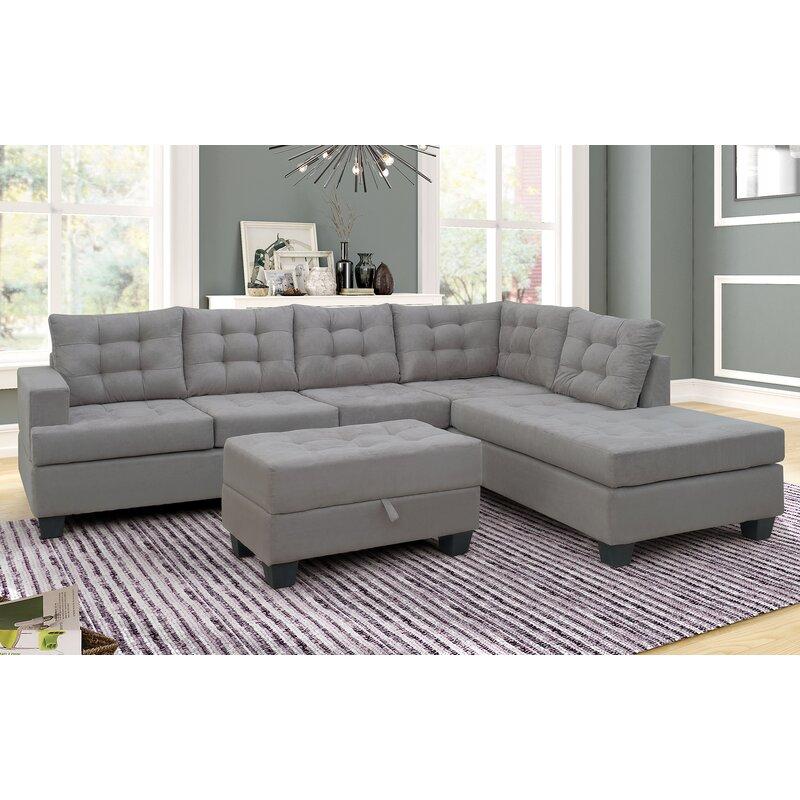 Latitude Run Tugrul 104 7 Square Arm Sofa Chaise Wayfair Ca