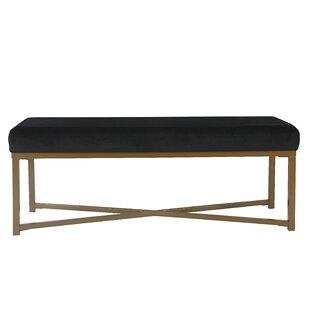 Mercury Row Lonon Rectangle Velvet Bench