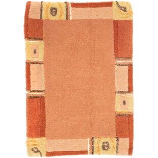 Tennyson Handwoven Wool Orange Indoor/Outdoor Rug By Ebern Designs