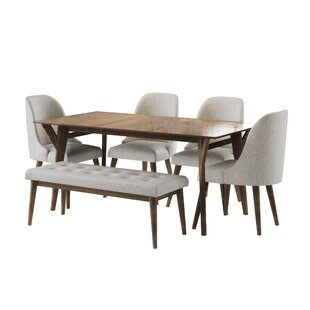 Ames Mid Century 6 Piece Dining Set Union Rustic