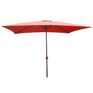 LB International 10' X 6.5'Rectangular Market Umbrella