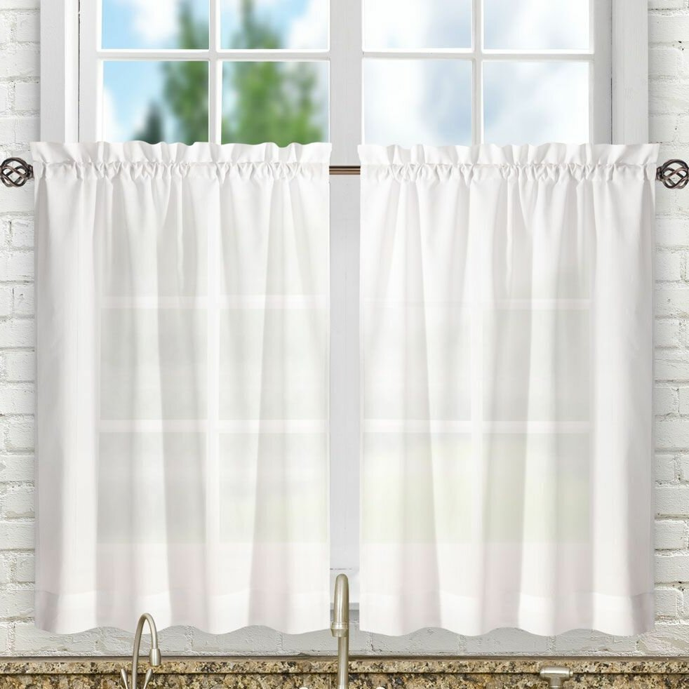 Laurel Foundry Modern Farmhouse Guida Tailored Tier Curtain ...