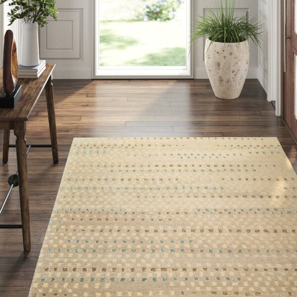 Tufenkian Abstract Hand Knotted Wool Silk Beige Gray Green Area Rug Perigold