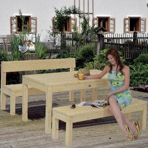 Gartenbank Ebony mit Lehne von Home Loft Concept