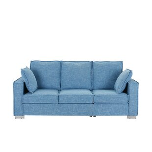 Cary Modern Fabric Sofa by Orren Ellis Best #1