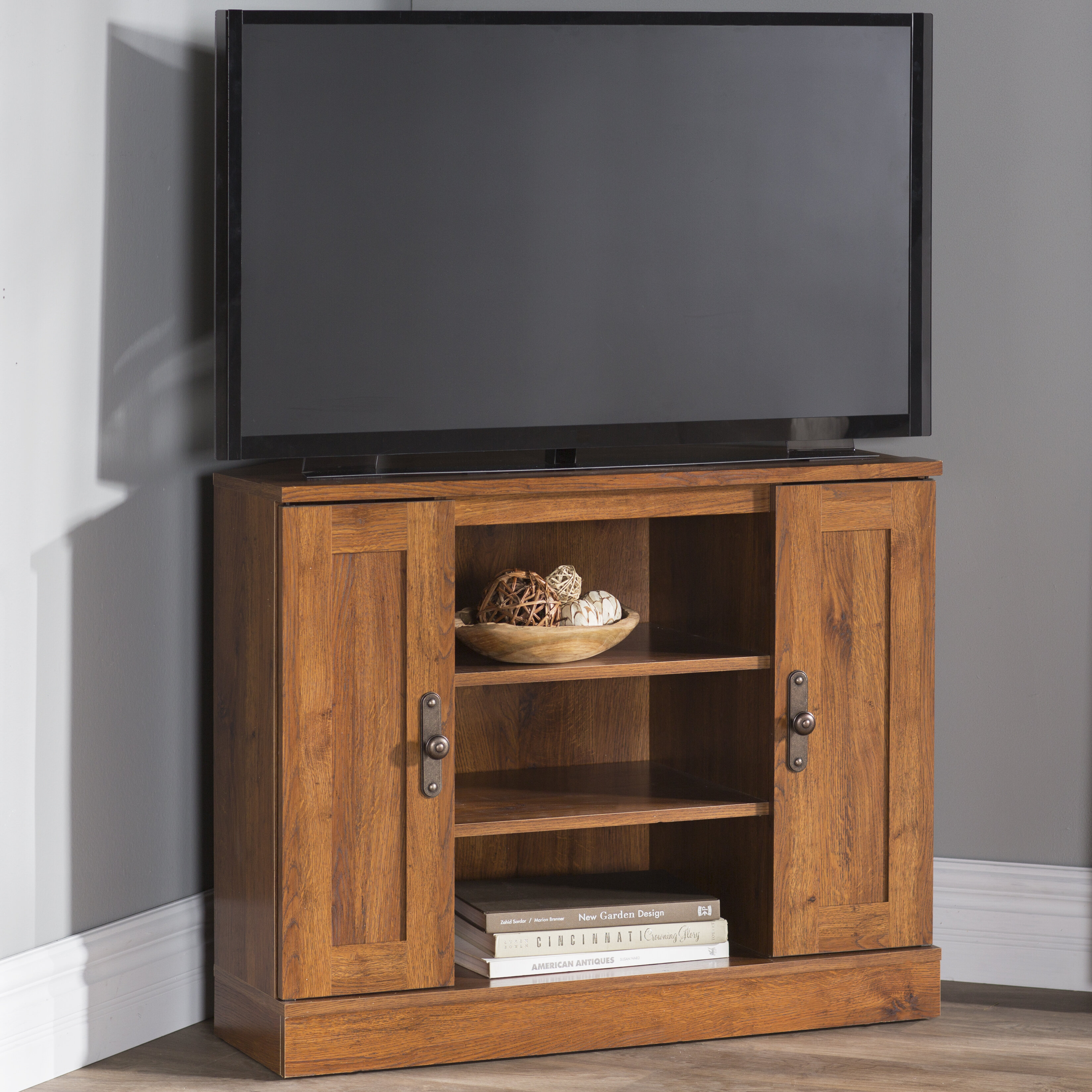 Alcott Hill Englewood Corner Tv Stand For Tvs Up To 37 Reviews Wayfair