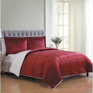 Geneva Micro Mink Reversible Comforter Set by Red Barrel Studio