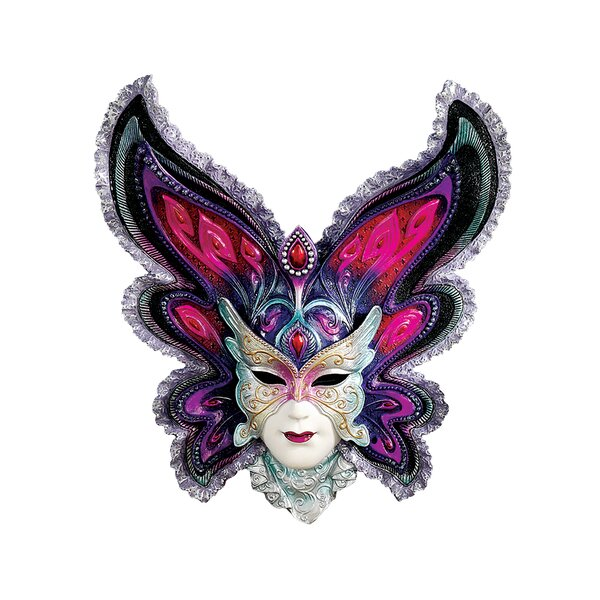 Maidens of Mardi Gras Butterfly Maiden Mask Wall Décor