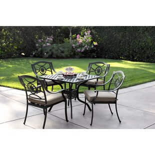 Alcott Hill Thompsontown Traditional 5 Piece Dining Set with Cushions