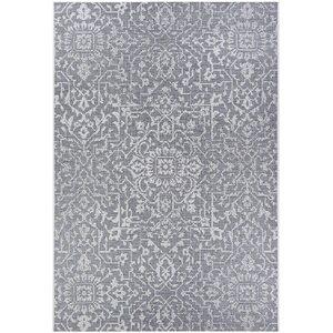 Kraatz Palmette Gray Indoor/Outdoor Area Rug