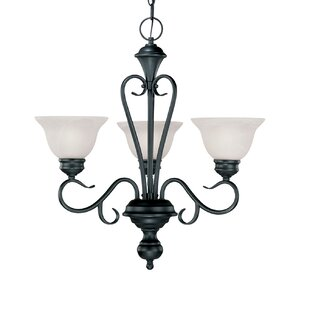 Fleur De Lis Living Wheless 3-Light Shaded Chandelier