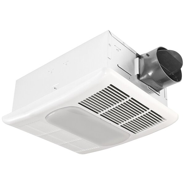 Delta Breez Exhaust 80 CFM Bathroom Fan With Light And