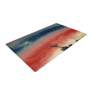 Infinite Spray Art Veteran's Day Red/Blue Area Rug