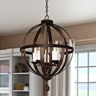 Laurel Foundry Modern Farmhouse Wilburton 5-Light Globe Chandelier