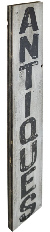 'Antiques' Textual Art on Manufactured Wood