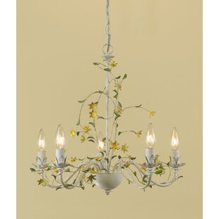 White flower chandelier wayfair minnesota star flower 5 light candle style chandelier aloadofball Gallery