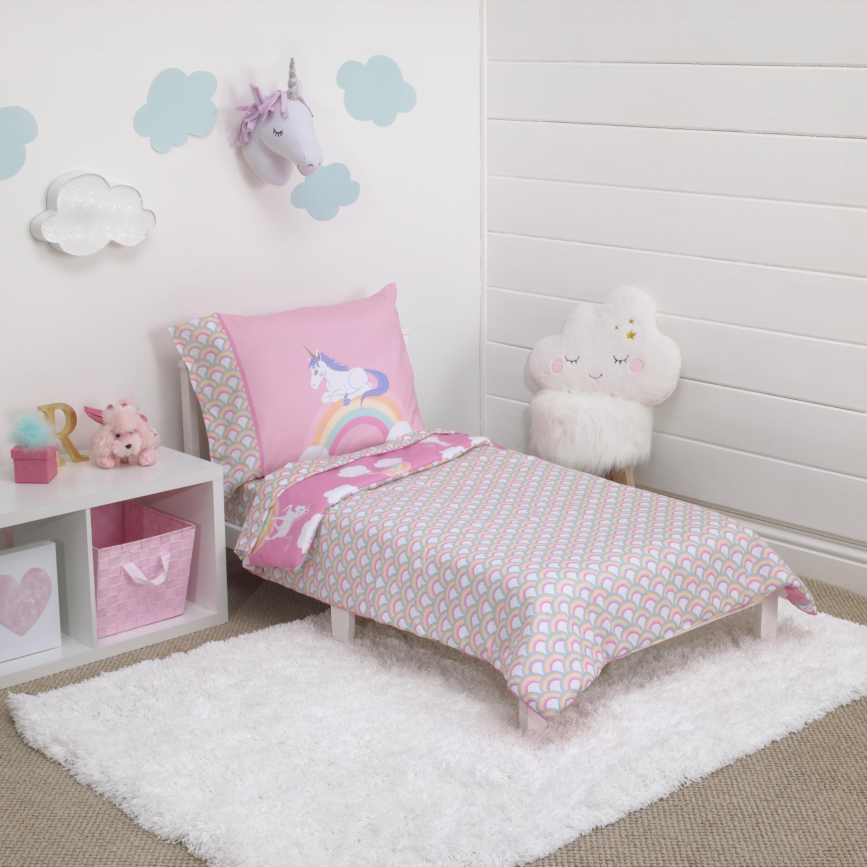 carter s rainbow unicorn 4 piece toddler bedding set reviews wayfair rh wayfair com toddler bedroom sets sims 4 cc toddler bedroom sets boy