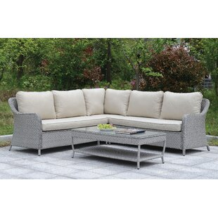 Algarin Outdoor 7 Piece Sectional Seating Group with Cushions