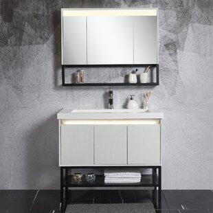 Forrestal 39 Single Bathroom Vanity Set with Mirror by Ivy Bronx