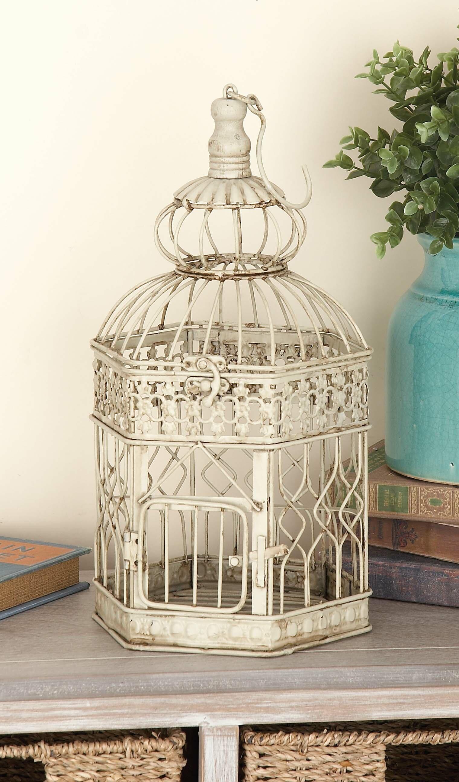 Lark Manor 2 Piece Metal Decorative Bird Cage Set & Reviews | Wayfair