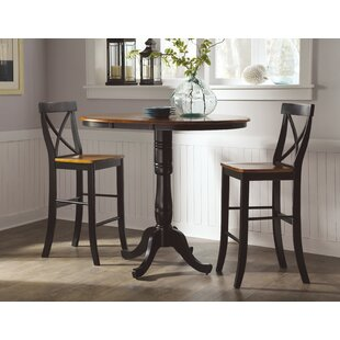 LePage Extendable 3 Piece Pub Table Set August Grove