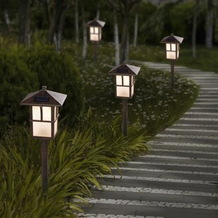 Pagoda Solar 1-Light Pathway Light (Set of 2)