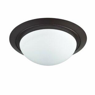 Look for Wattisham 1-Light LED Integrated Flush Mount By Winston Porter