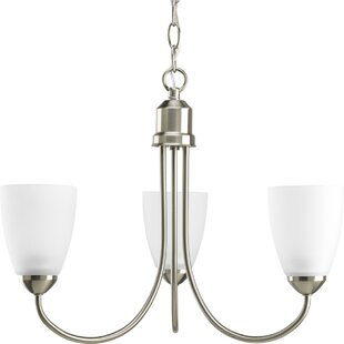 Chauvin 3-Light Shaded Chandelier by Charlton Home