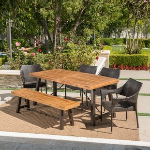 Pokorny Outdoor 6 Piece Dining Set
