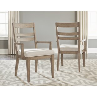 Amina Slat Back Upholstered Dining Chair (Set of 2)
