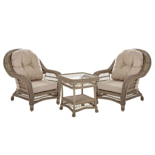 Procopio 3 Piece Conversation Set with Cushions by Bungalow Rose