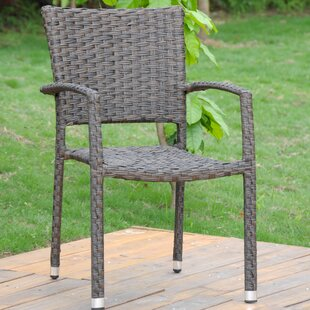 Ebern Designs Douthit Stacking Patio Dining Chair (Set of 2)