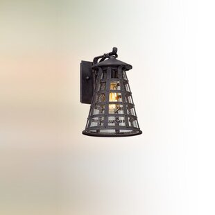 Compare prices Satyadev 1-Light Outdoor Wall Lantern By 17 Stories