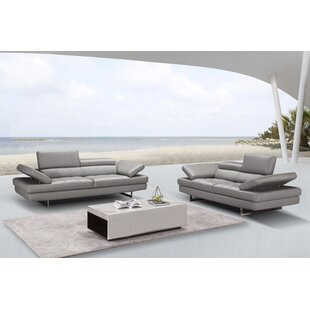 Maxwell Leather Configurable Living Room Set