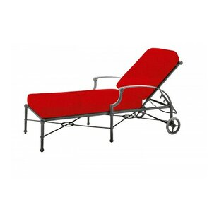 Woodard Delphi Reclining Chaise Lounge with Cushion