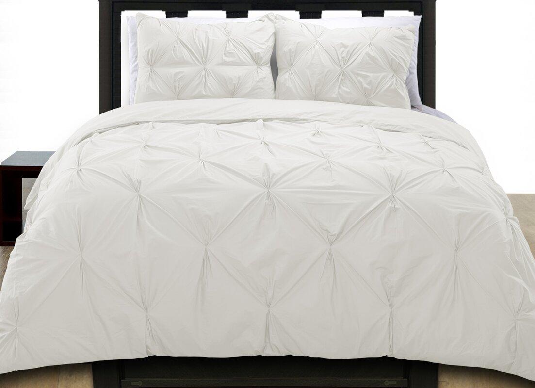 Cottonesque Pintuck Duvet Cover Set