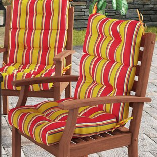 High Back Indoor/Outdoor Lounge Chair Cushion Set (Set of 2)