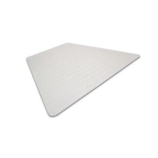 Cleartex Medium Pile Carpet Straight Edge Chair Mat by Floortex