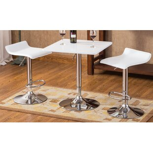 Roundhill Furniture Baxton 3 Piece Pub Table Set