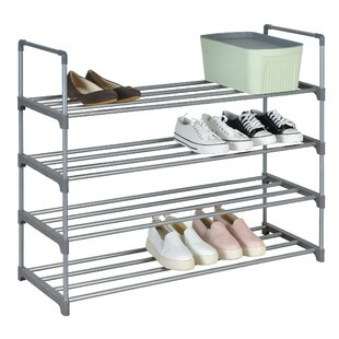 Best Choices 4 Tiers 24 Pair Stackable Shoe Storage Cabinet By Rebrilliant