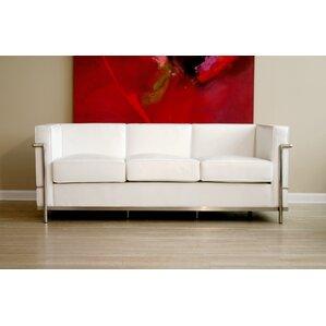 Captivating Tensho Kan Le Corbusier Petite Leather Sofa