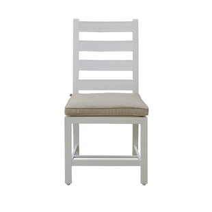 Halverson Patio Dining Chair with Cushion (Set of 2)