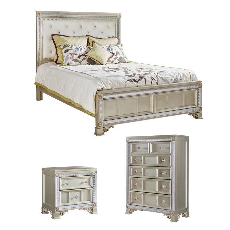 Fairfax Home Collections Tiffany Panel Configurable Bedroom Set Reviews Wayfair