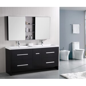 Royal 72″ Double Bathroom Vanity Set with Mirror