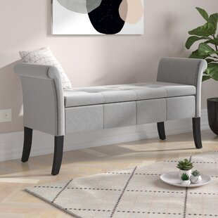 Review Andesine Upholstered Storage Bedroom Bench