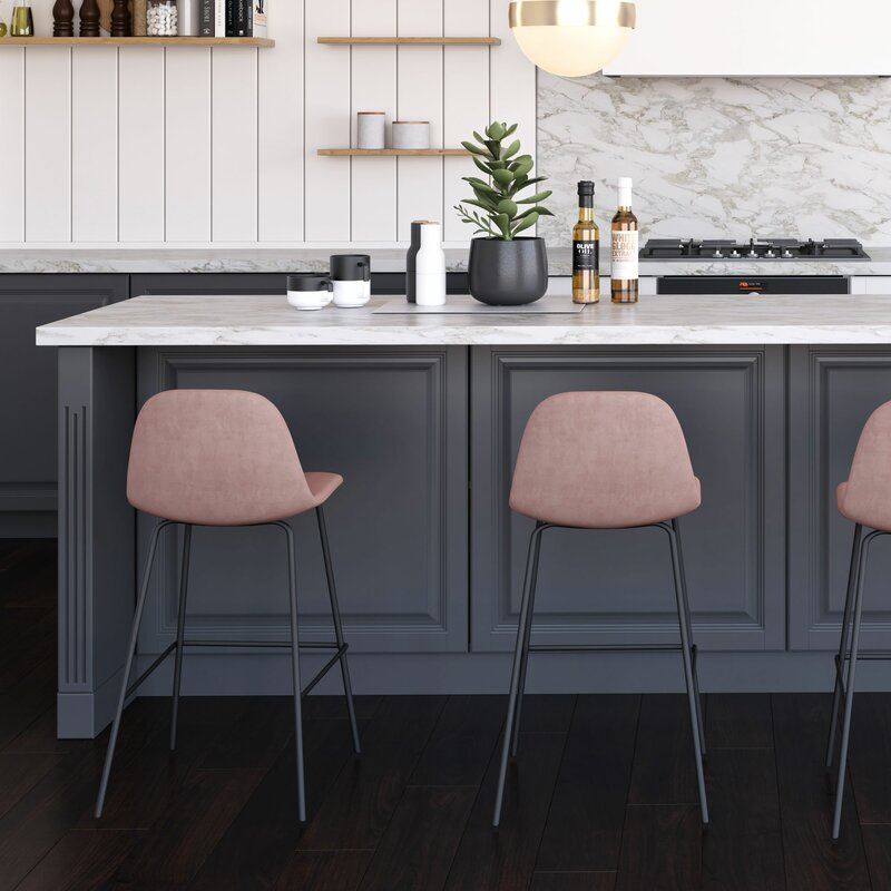 Magnificent Modern Rustic Interiors Connor Bar Counter Stool Seat Theyellowbook Wood Chair Design Ideas Theyellowbookinfo