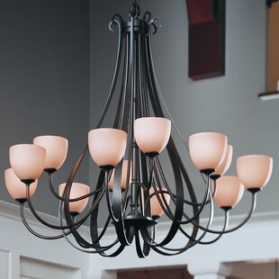 Hubbardton Forge 12-Light Shaded Chandelier