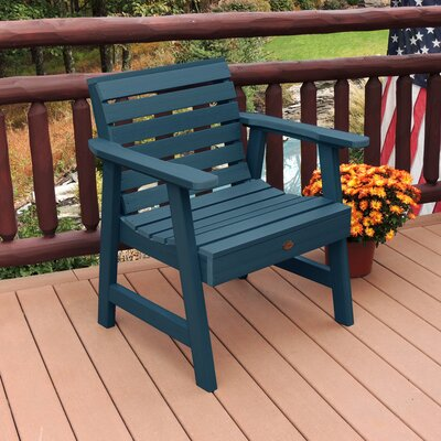 Lietz Garden Patio Chair Darby Home Co Color: Nantucket Blue